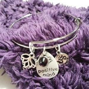 Jewelry - Positive Mind Bracelet w/Three Hanging Charms